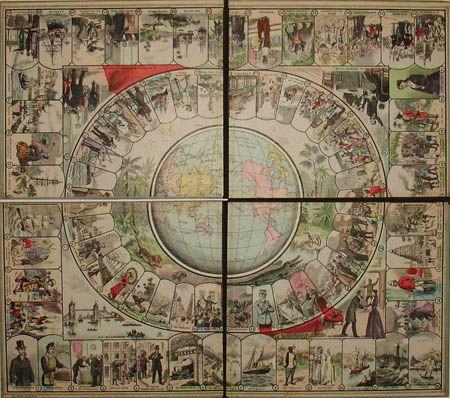 George Glazer Gallery - Antiques - Around the World in 80 Days Game ...