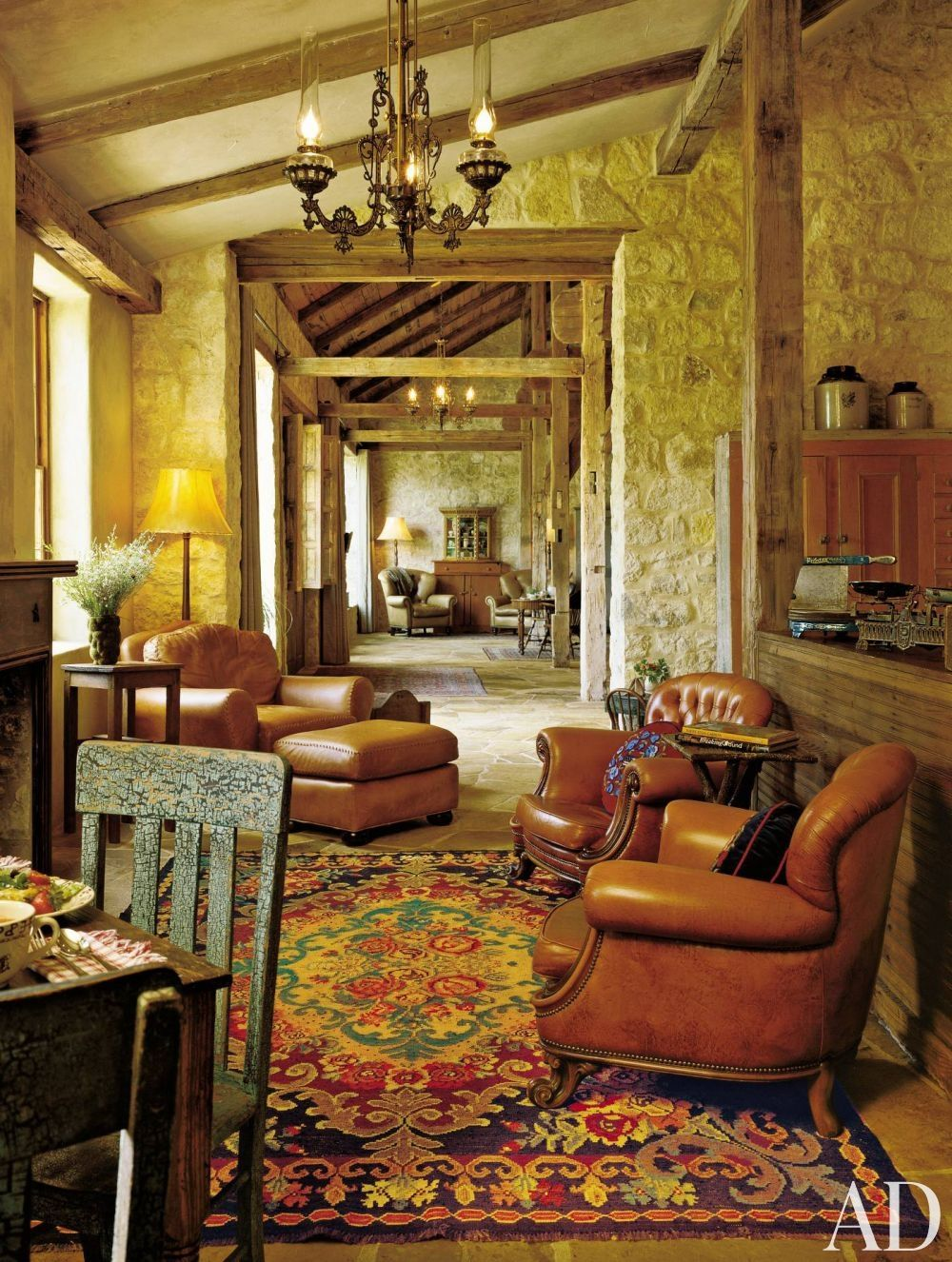 Fredericksburg TX   Antidote For All The Brown Leather Is A Richly Colored  Rug