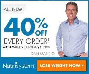 """""""Get 40% Off Every Order and Free Shipping! Also get Free Shakes, Bars & Boosters!  Men can burn fat, retain lean muscle and lose weight on the easy to follow Nutrisystem Turbo for Men. Just easy to prepare foods and no gimmick with 24-hour support online."""""""