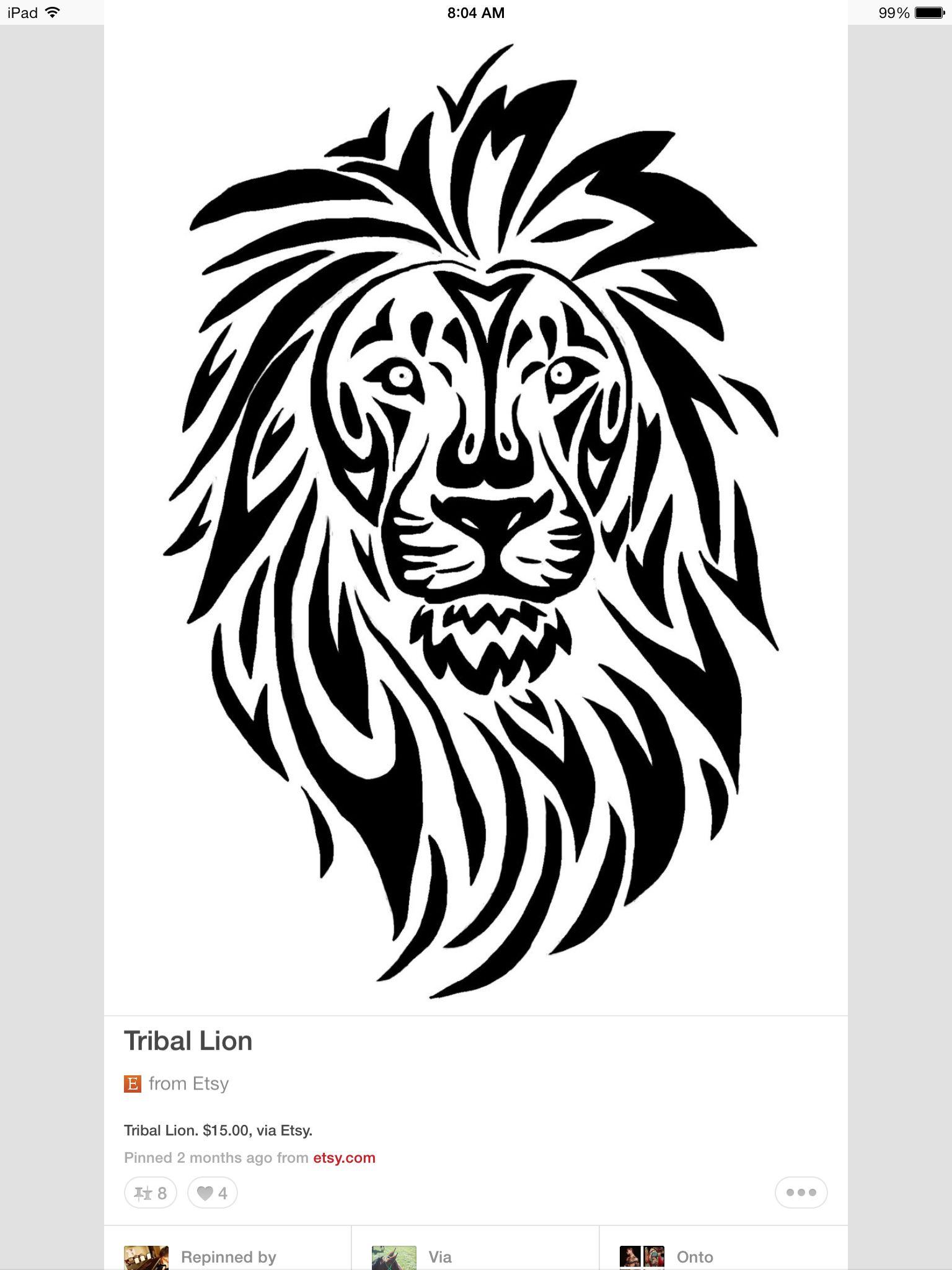 tribal lion papiers dessin tatouage tribal lion. Black Bedroom Furniture Sets. Home Design Ideas