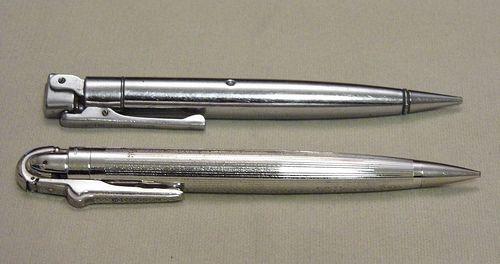 "Pair of Vintage Mechanical Chrome Pencil Cigarette Lighters, Ronson ""Penciliter""…"