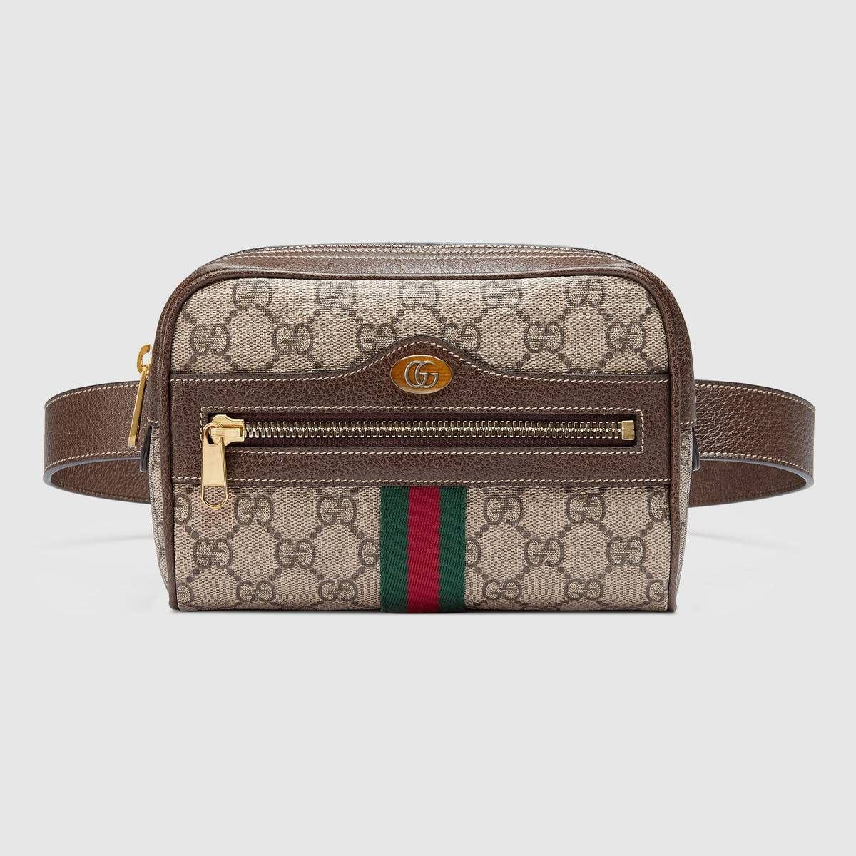 647dadc424a Shop the Ophidia GG Supreme small belt bag by Gucci. First used in the  1970s, the GG logo was an evolution of the original Gucci rhombi design  from the ...