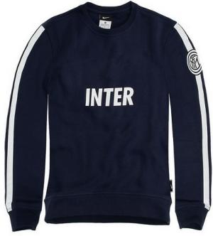 Inter Milan 2014-2015 Season Navy Core LS Crew Sweatshirt [1410251183]