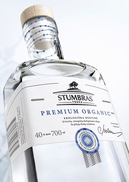 Stumbras Vodka Premium Organic on Packaging of the World - Creative Package Design Gallery
