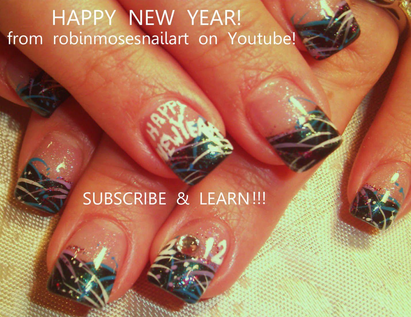 Nail-art by Robin Moses: new york nails, new year nails. | A nails ...