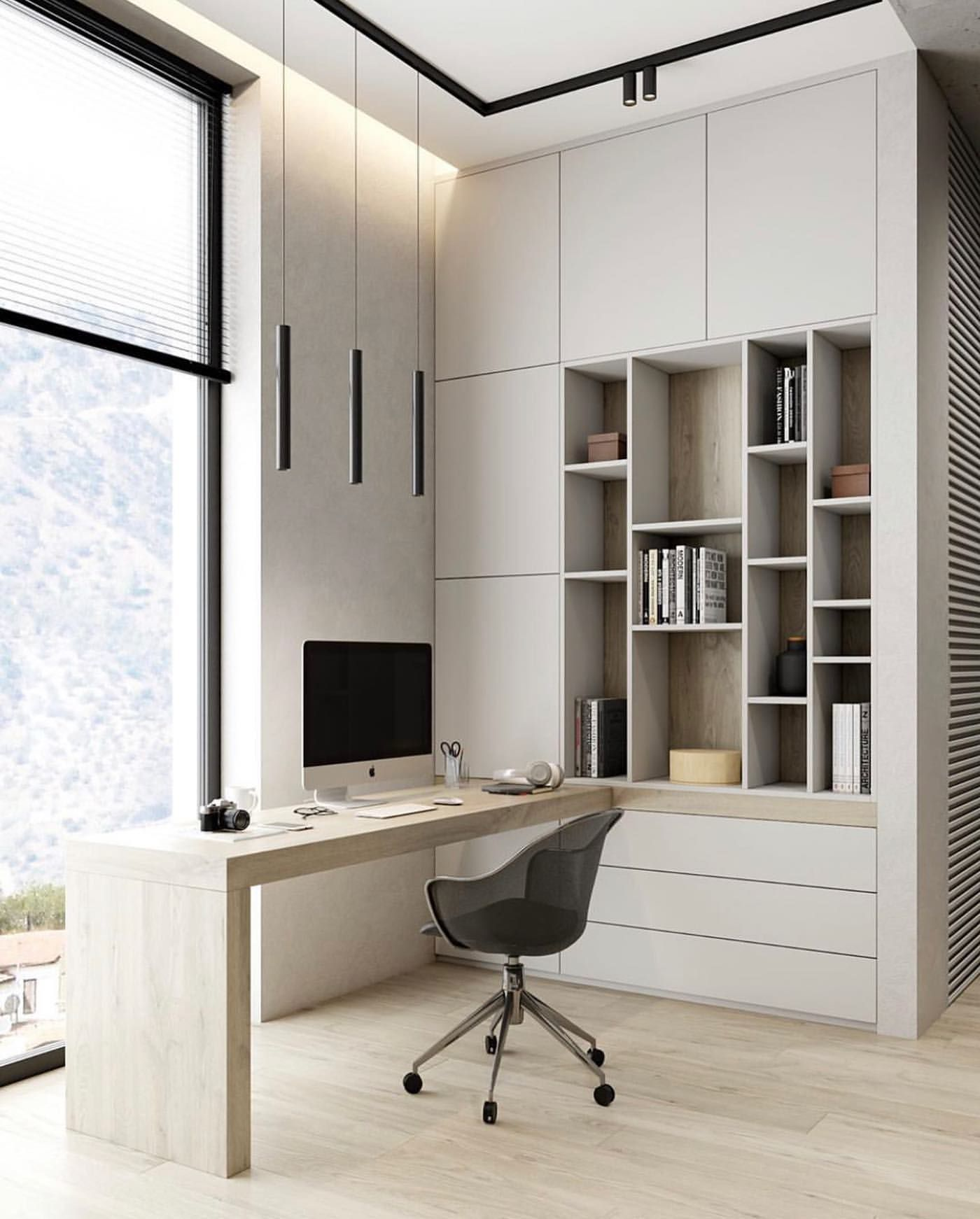 Bigger Isn T Always Better And More Is Not Always The Best At Times It S Best To Keep Things As Simple Modern Home Office Home Office Design Home Office Decor
