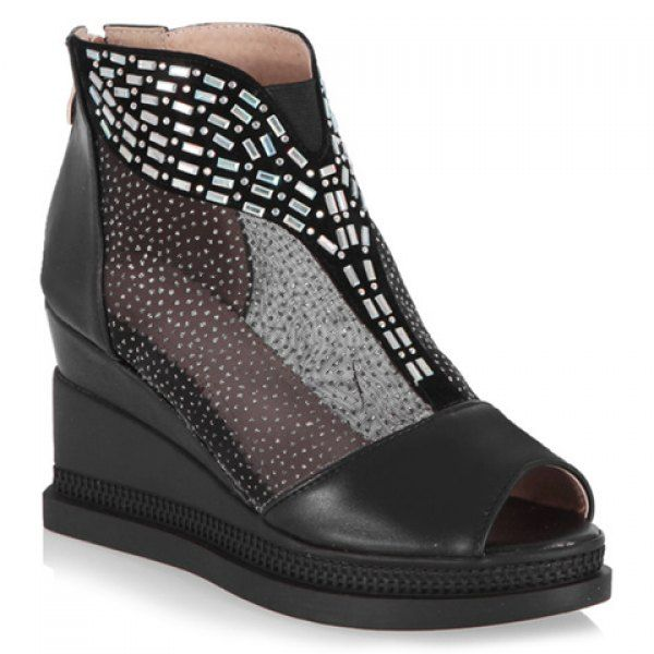Casual Wedge and PU Leather Design Peep Toe Shoes For Women is part of Clothes Casual Wedges - Fashion Clothing Site with greatest number of Latest casual style Dresses as well as other categories such as men, kids, swimwear at a affordable price