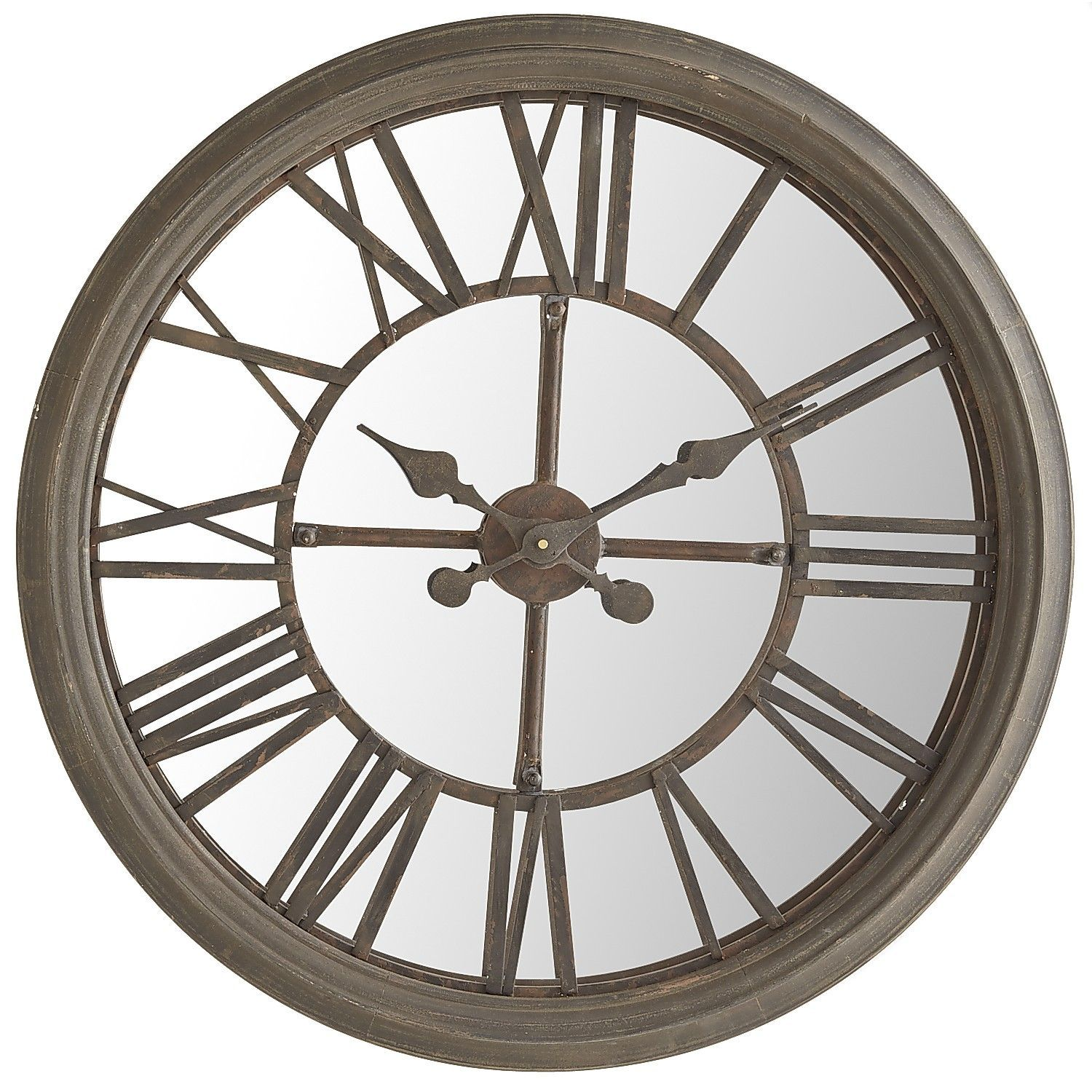 Rustic Mirrored Wall Clock Mirror Wall Clock Wall Clock Rustic Wall Clocks