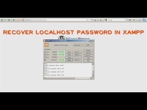 Recover Localhost Websever Xampp Wordpress Lost Password Wordpress Passwords Recover