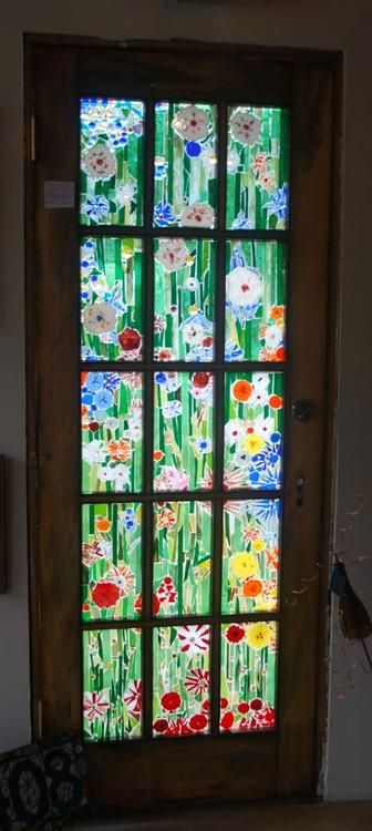 Flowered Door By Mosaics By Martha Delphi Stained Glass