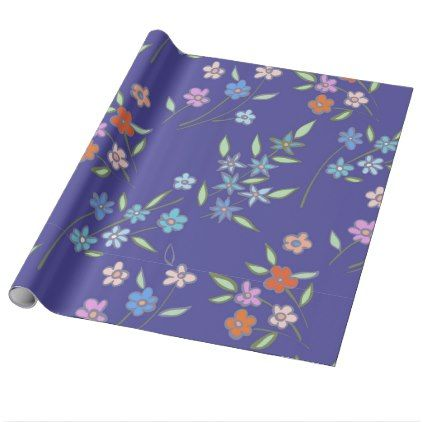Floral design wrapping paper - floral gifts flower flowers gift ideas