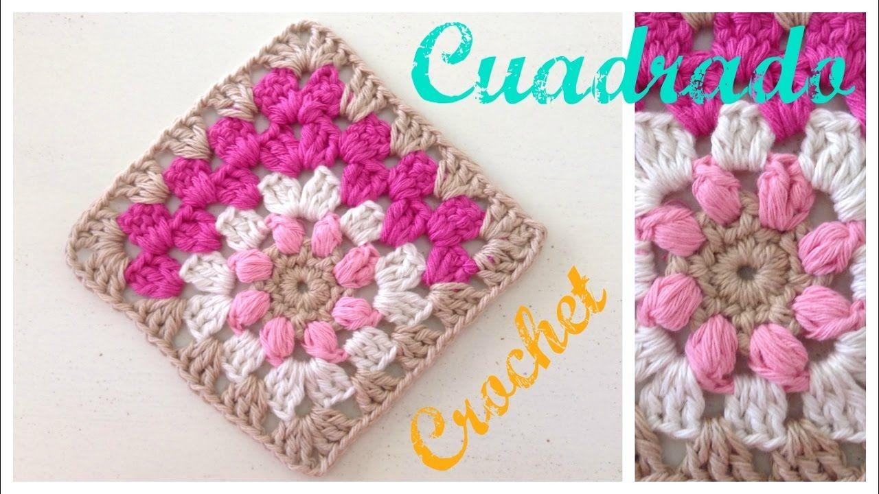 Cuadrado de la abuelita tejido en diagonal   crochet muestras y ...