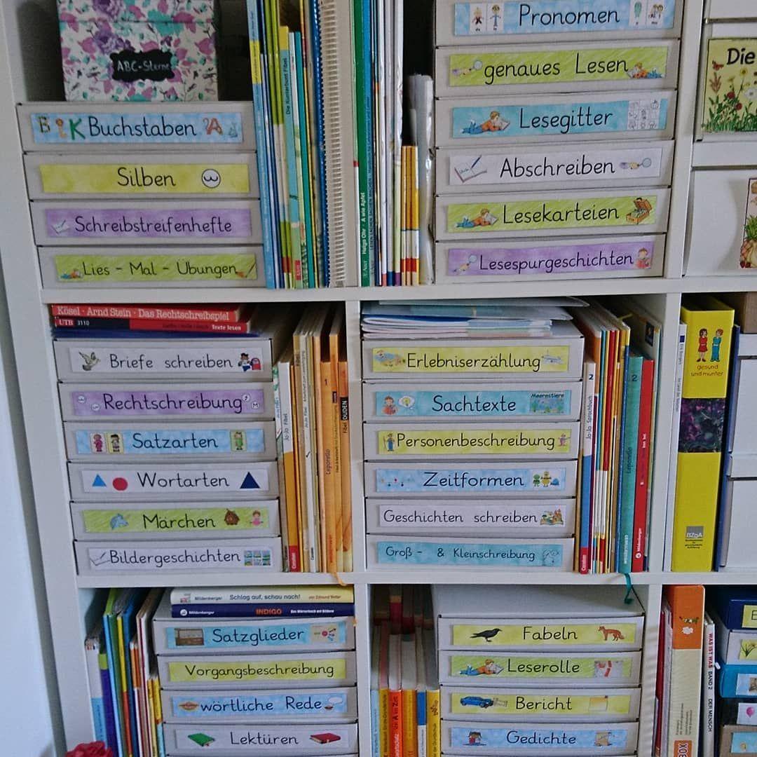 Deutsch Materialien Sind Auch Endlich In Kartons Umgezogen Lehrerorganisation Ideen Fur Das Klassenzimmer Lehrer Schreibtisch Organisation