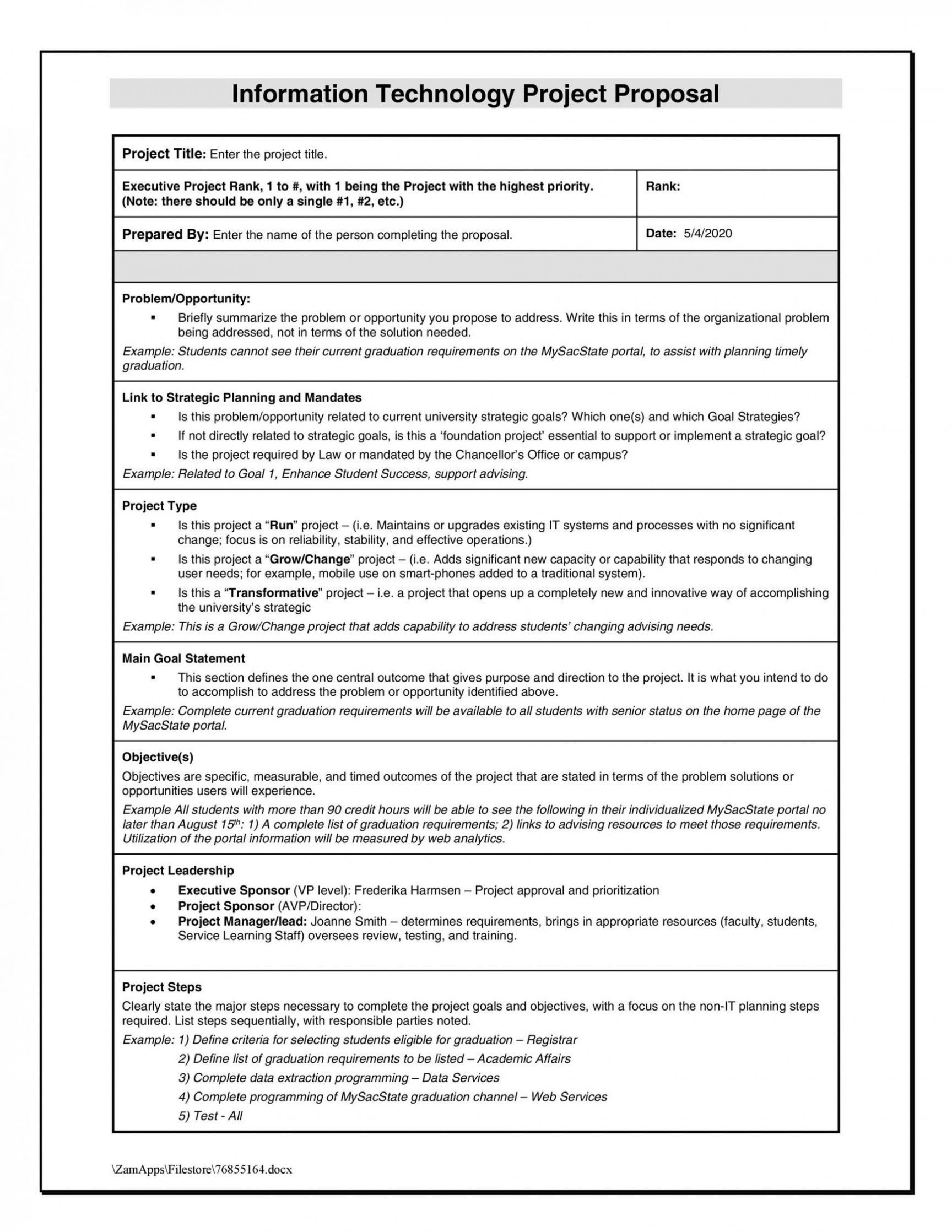 Service Learning Project Proposal Template Business Proposal Template Proposal Templates Project Proposal Template