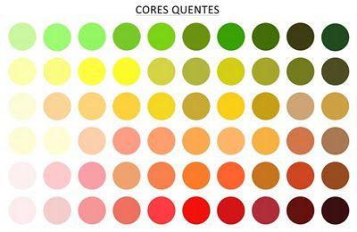 tabela de cores para quente outono - Pesquisa Google