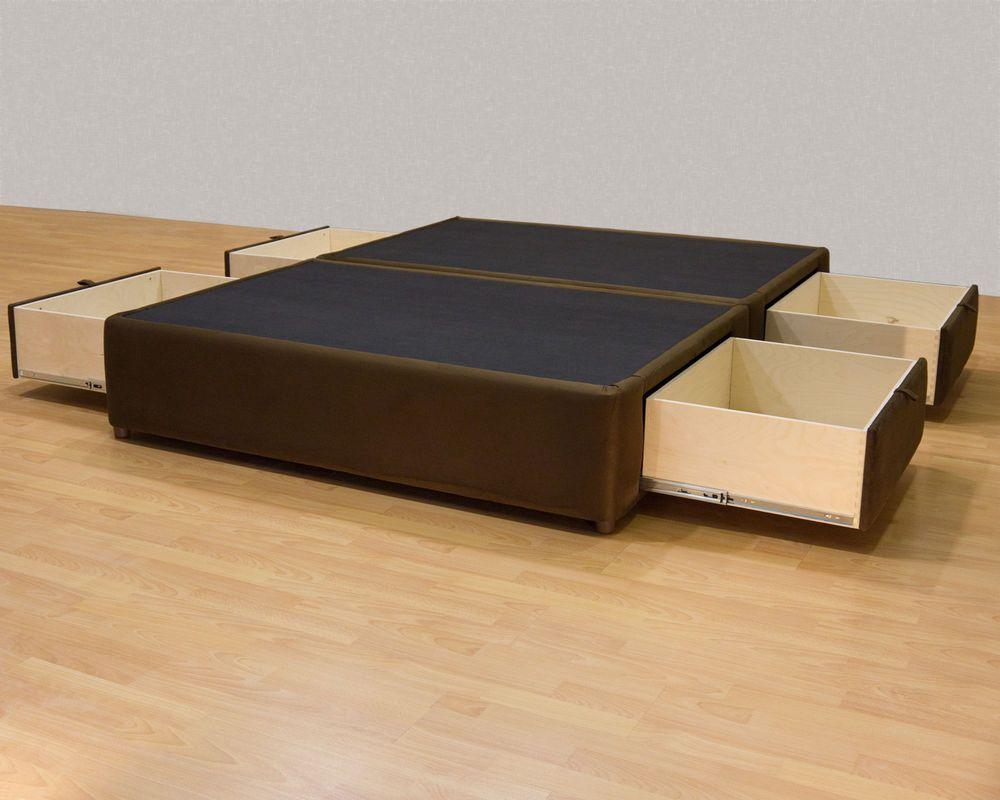 Best King Platform Bed With Storage Drawers Uphostered Storage 400 x 300