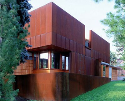 Cor ten architectural siding weathering steel steel for Architectural siding