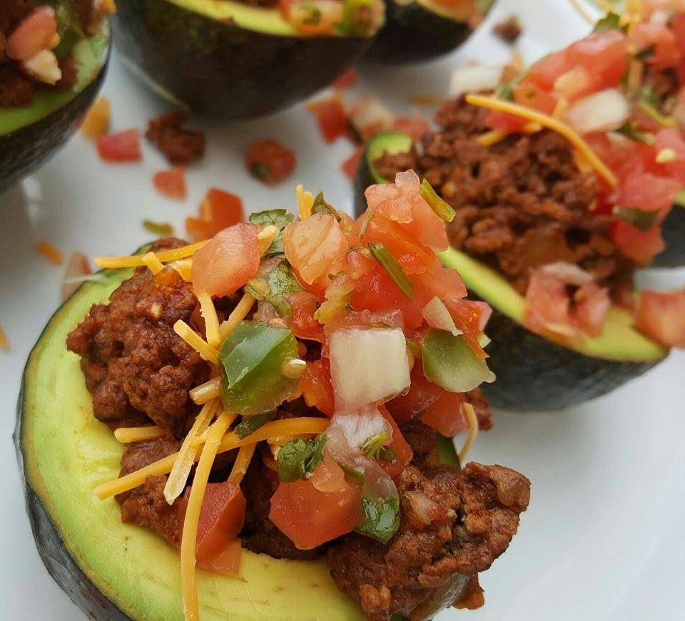 "Ham And Avocado Scramble Recipe: Taco Stuffed Avocados Aka ""Avo-Tacos"""