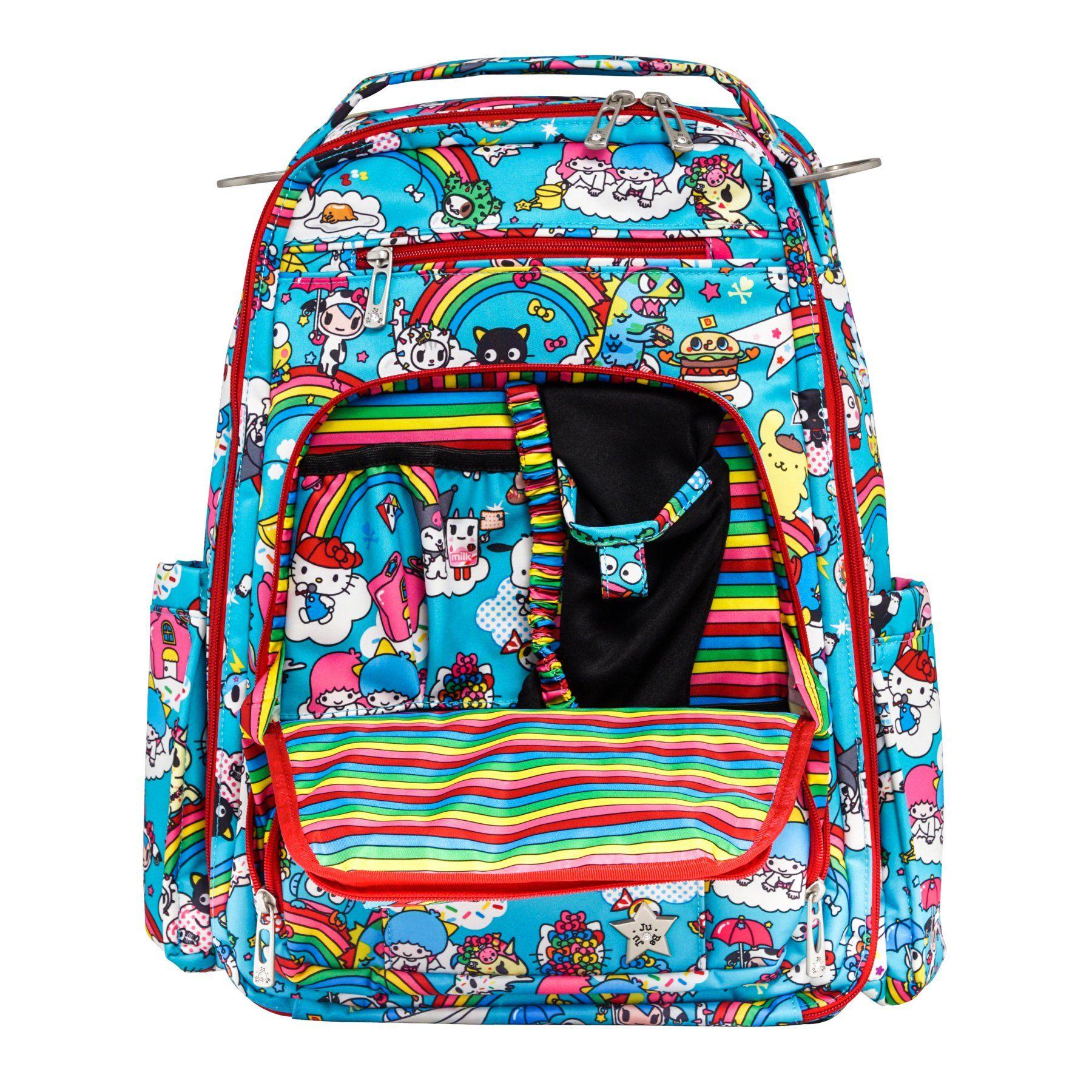 39ac389c8342 Ju Ju Be Tokidoki Collection Be Right Back Backpack Diaper Bag - Rainbow  Dreams - 12BP01AT RBD