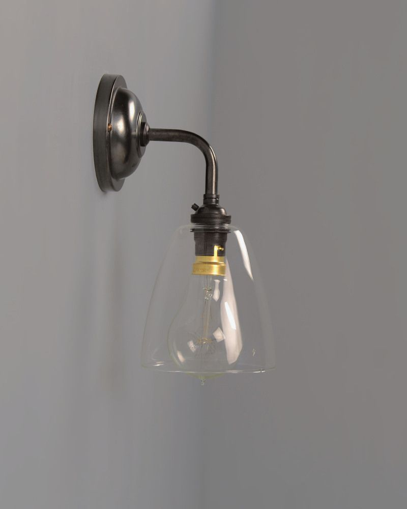 Contemporary wall light with pixley clear glass shade contemporary contemporary wall light with pixley clear glass shade aloadofball Images