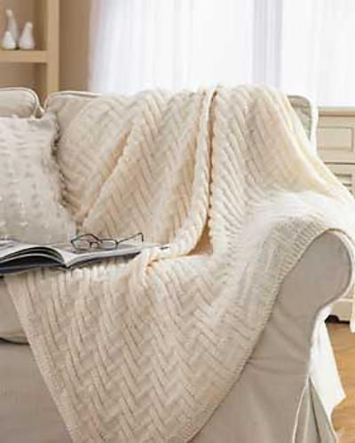 Simple Chunky Blanket #afghanpatterns