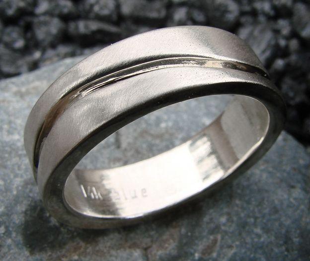blue by susan west.  modern design for the modern groom.  www.bluegoldsmiths.com  #weddingband #groom #forthegroom #moderngroom #modernwedding #whitegold #wedding