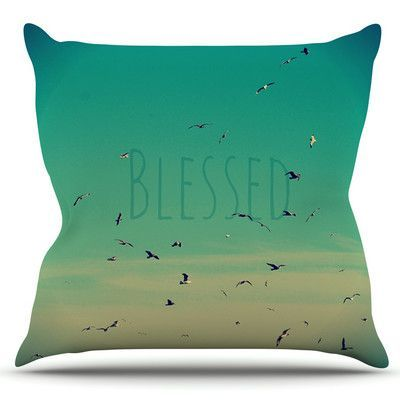 KESS InHouse Blessed by Robin Dickinson Outdoor Throw Pillow
