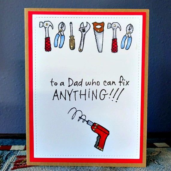 Card For Dad Fathers Day Birthday The Tool Man Card Handy