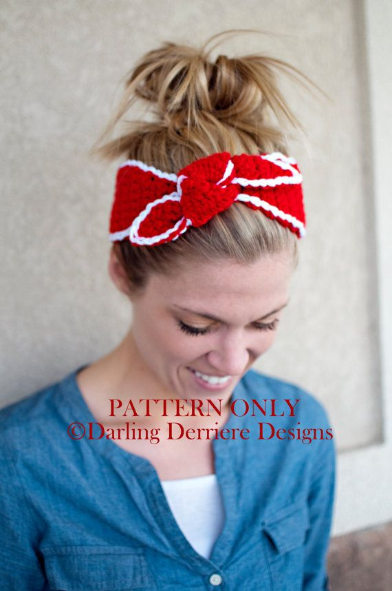 Crochet Pattern For A Head Wrap Baby Adult Sizes So Cute