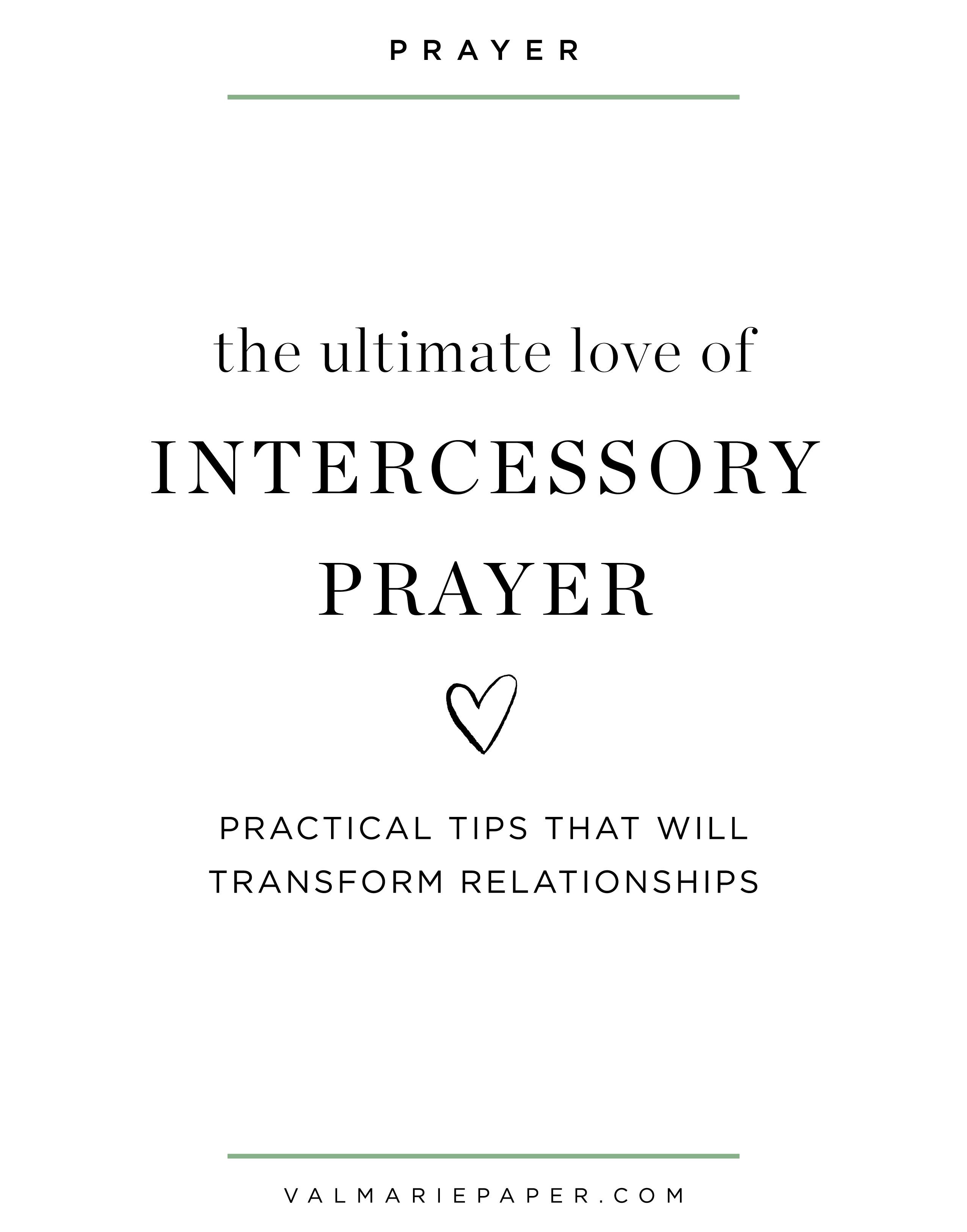How To Become An Intercessor