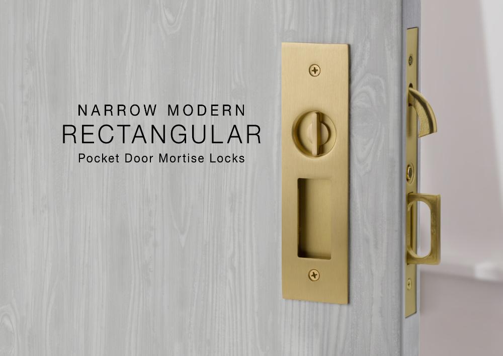 Narrow Pocket Door Mortise Locks Emtek Products Inc Pocket Doors Pocket Door Lock Pocket Door Hardware
