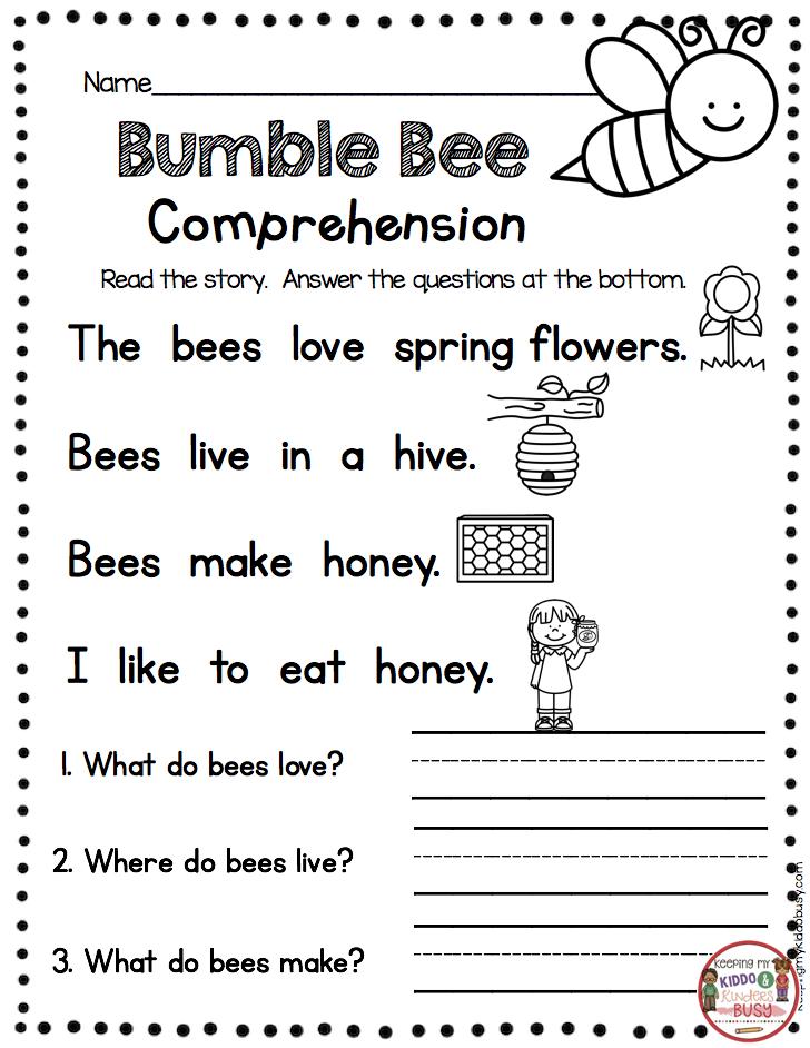 FREE ACTIVITIES Kindergarten Reading Passage With Comprehension Questio… Kindergarten  Reading Worksheets, Kindergarten Reading, Reading Comprehension Kindergarten