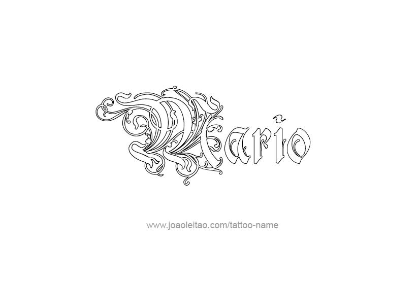 Mario Name Tattoo Designs In 2020 Tattoo Designs Name Tattoos Name Tattoo Designs