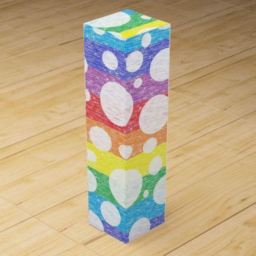 Bubbles in a Rainbow Sea Wine Gift Box