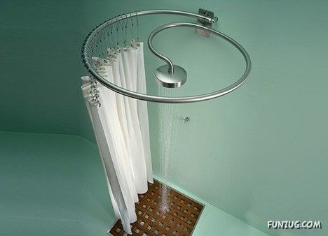 Shower head Curtain Rod in one Home Hopes Pinterest