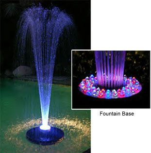 A floating pool fountain will make your back yard into a water wonderland