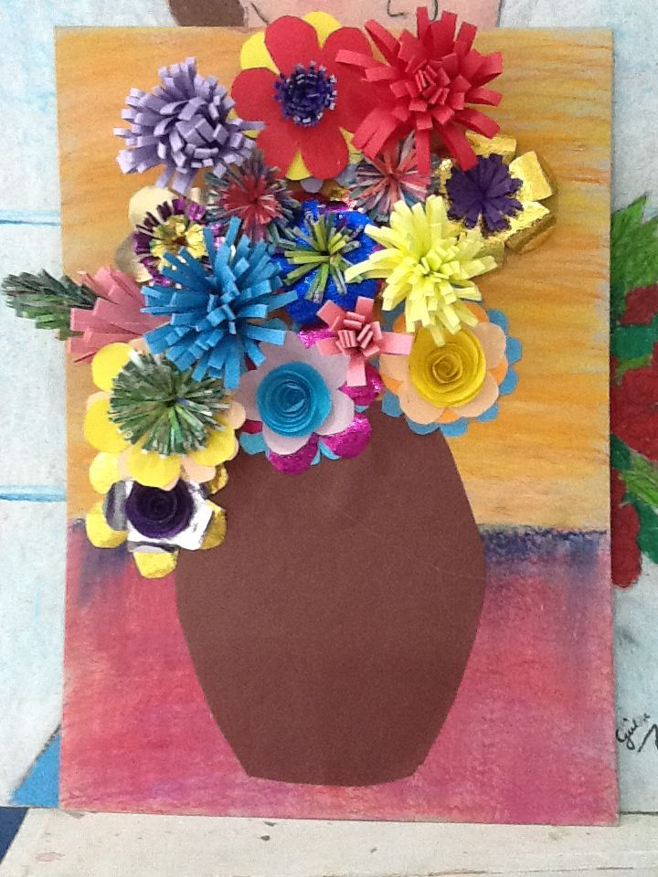 3rd grade art project uploaded by user art lesson plans for Art and craft flowers
