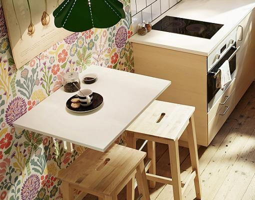 Ideas para cocinas pequeñas: mesa abatible Norbo de Ikea | Ideas ...