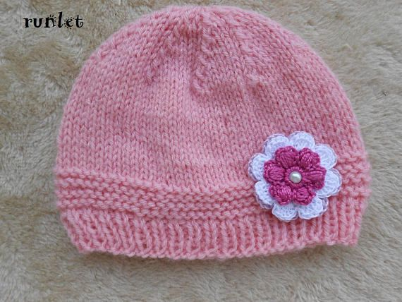 986d234a9feb baby knitted hats,newborn girl hat rose bonnet Baby girl newborn ...