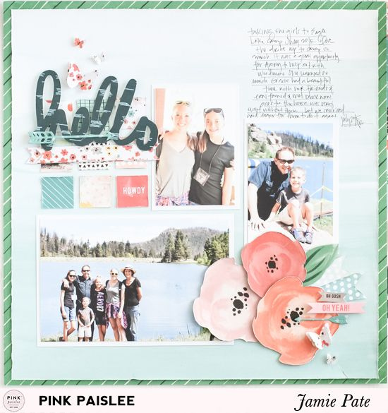 Pink Paislee Patterned Paper Only Layout | @jamiepate for @pinkpaislee