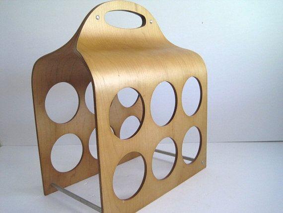 Bentwood Wine Rack / Mid Century Modern / Scandinavian