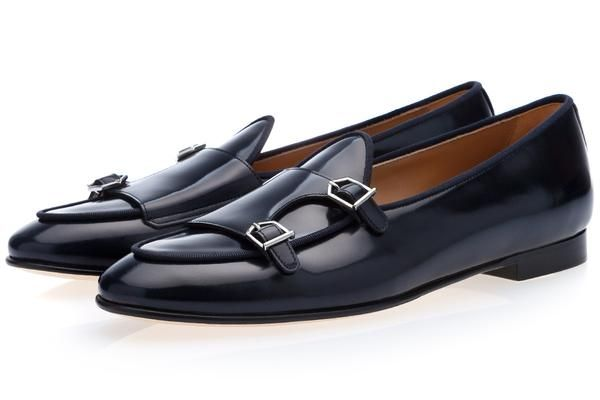 ce5b493ea03 Tangerine 7 brushed navy belgian loafers in 2019   shoes   Shoes ...