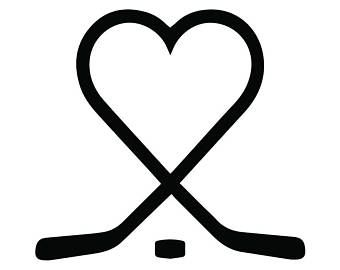Hockey Logo 26 Heart Love Puck Player Stick Mask Pads Arena Ice Team Game League School Sports Svg Eps Png Vector Cri Hockey Tattoo Hockey Shirts Ice Hockey