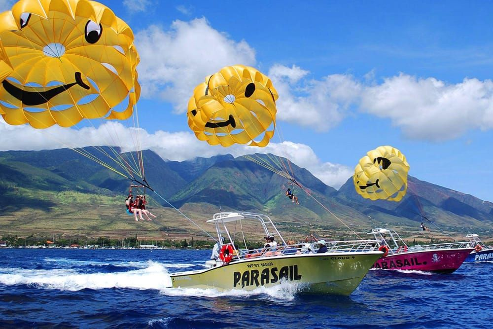 Parasailing is like floating on air as one of our custom