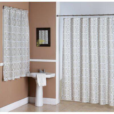 House Of Hampton Rickett 2 Piece Shower Curtain Set Hooks In