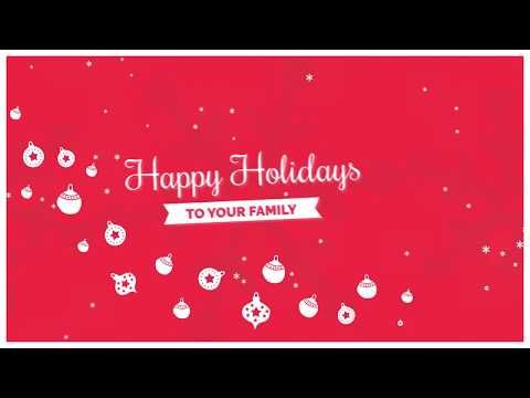 Free After Effects Template  Christmas Card  After Effects Intro