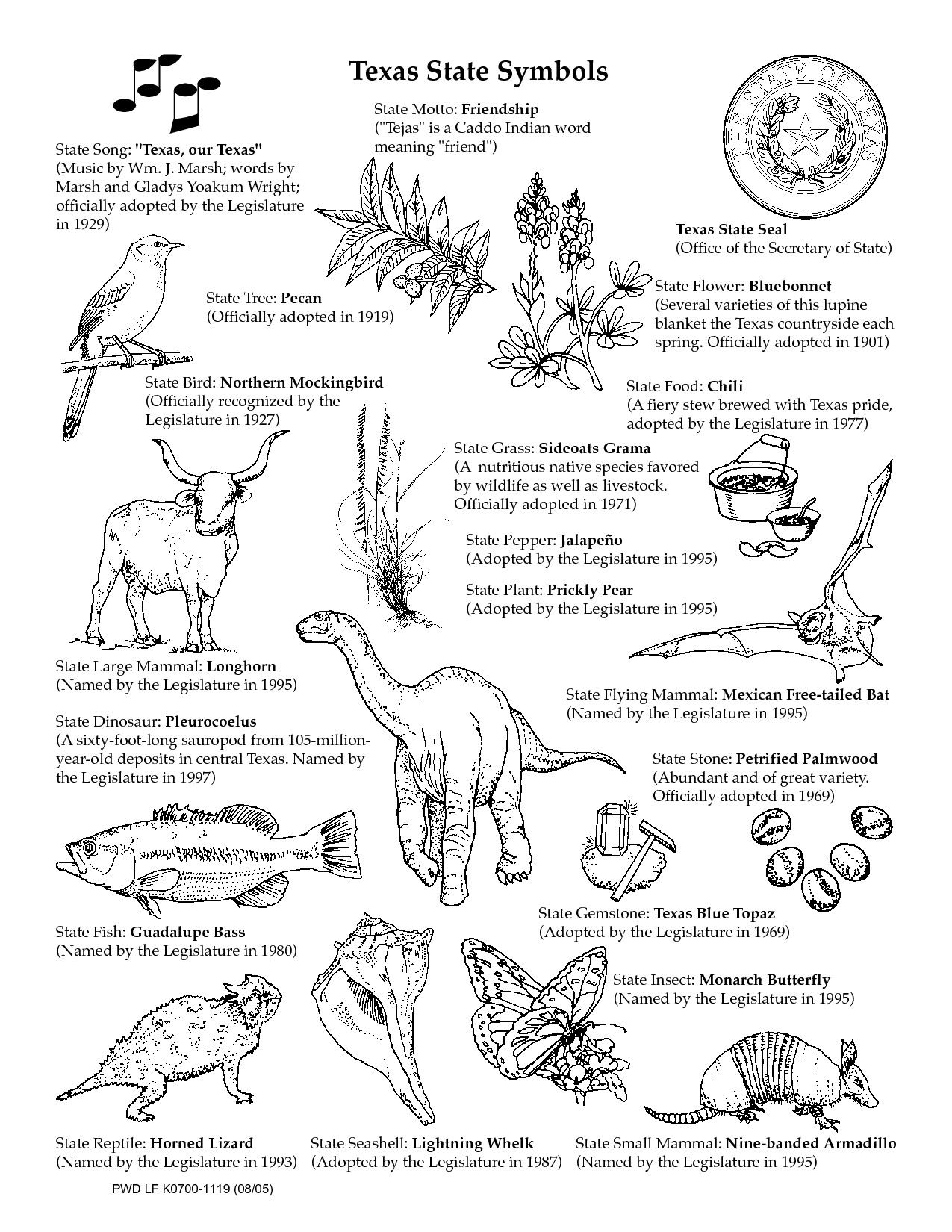 Texas Symbols Coloring Pages Awesome Texas Symbols
