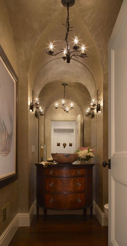 a little dark for my liking but so breathtaking le powder room rh pinterest com