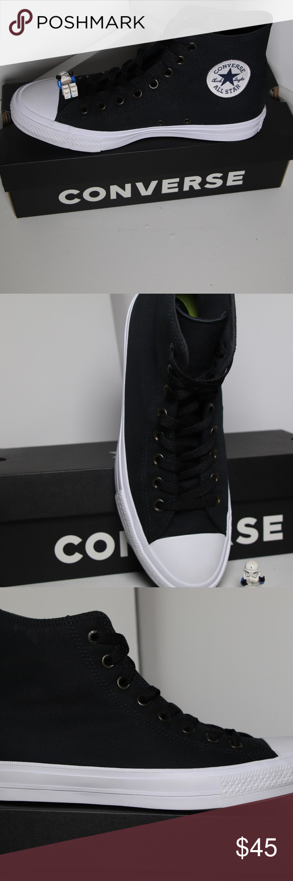 e55971ccd1ee Converse Chuck 2 Black All Star High Tops BRAND NEW in ORIGINAL BOX  100%  AUTHENTIC. Price is firm. I have many other Converse shoes available in  many other ...