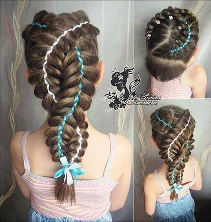 2 French Braids With Ribbons Hair Styles Pretty Braids Braids For Long Hair